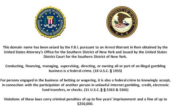 Big Three Takedown - FBI Seized Online Poker Sites